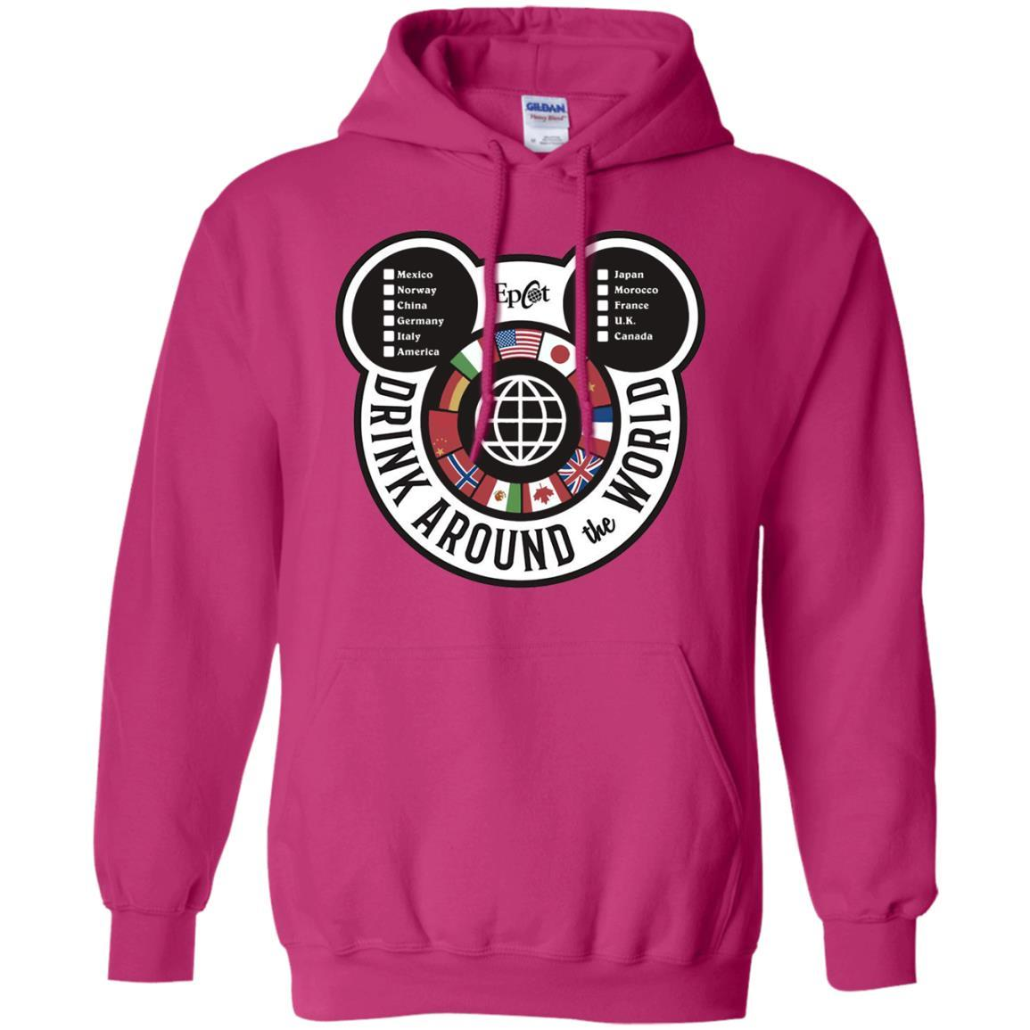 Drink Around the World - EPCOT Checklist - Pullover Hoodie Heliconia / 5XL