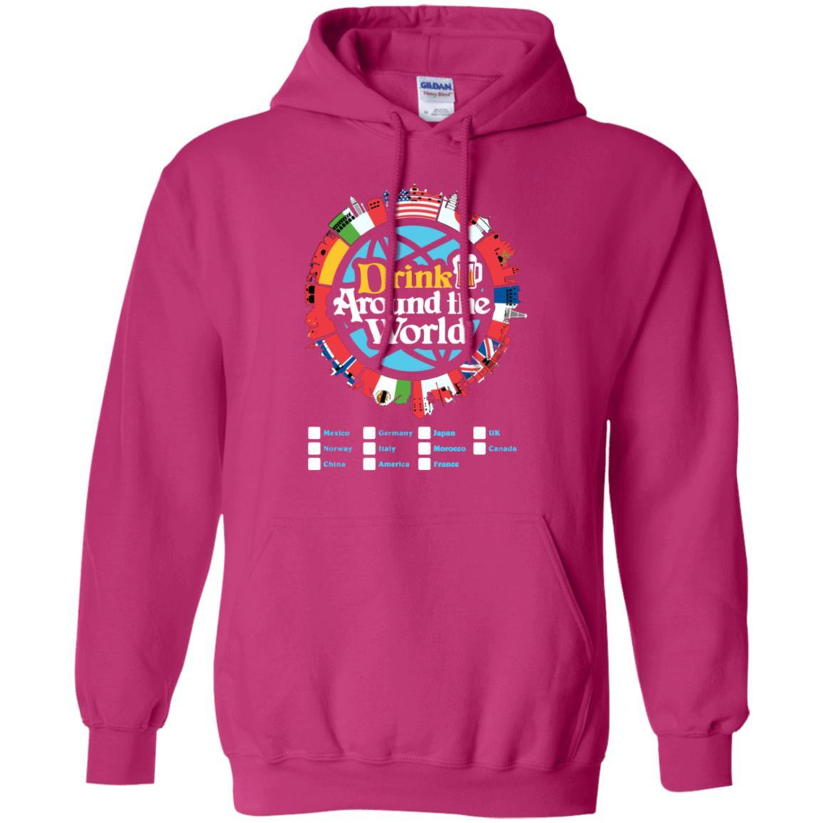 Drink Around the World - Pullover Hoodie Heliconia / 5XL