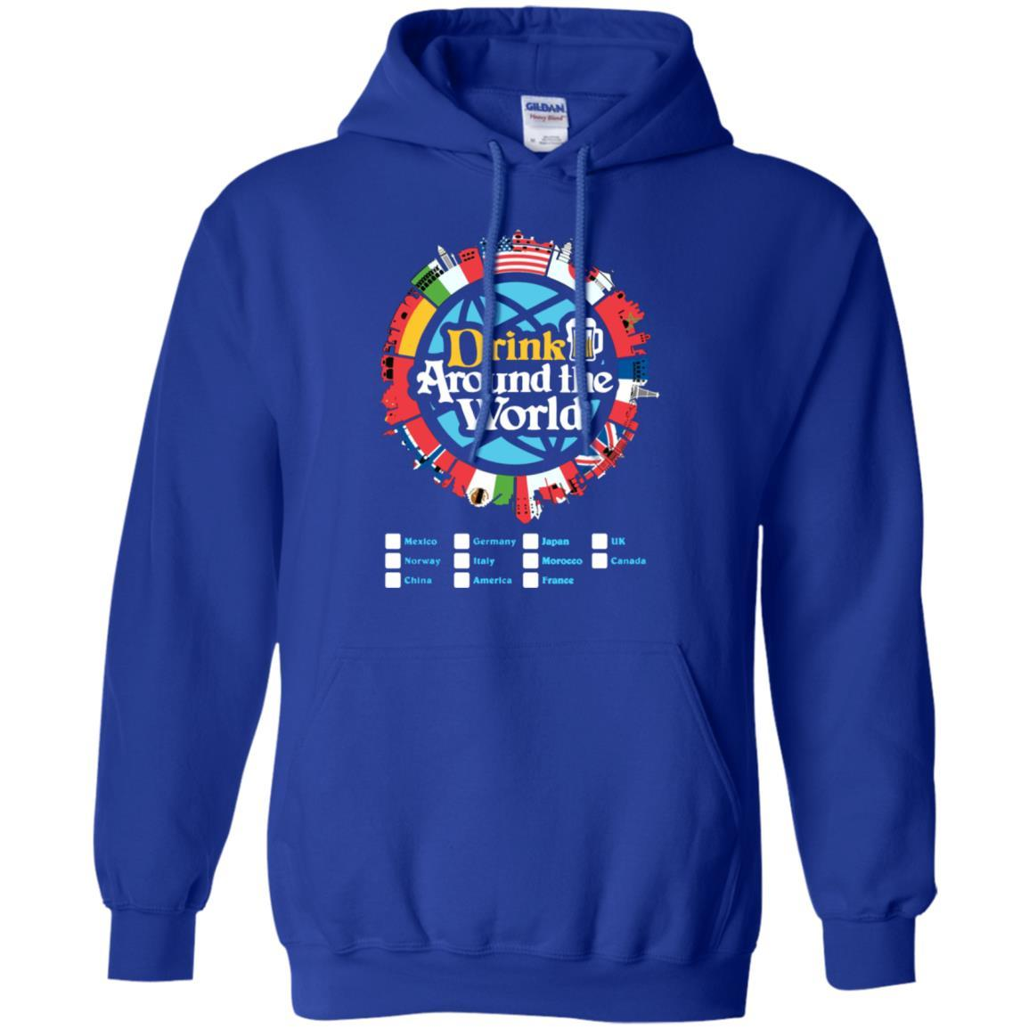 Drink Around the World - Pullover Hoodie Royal / 5XL