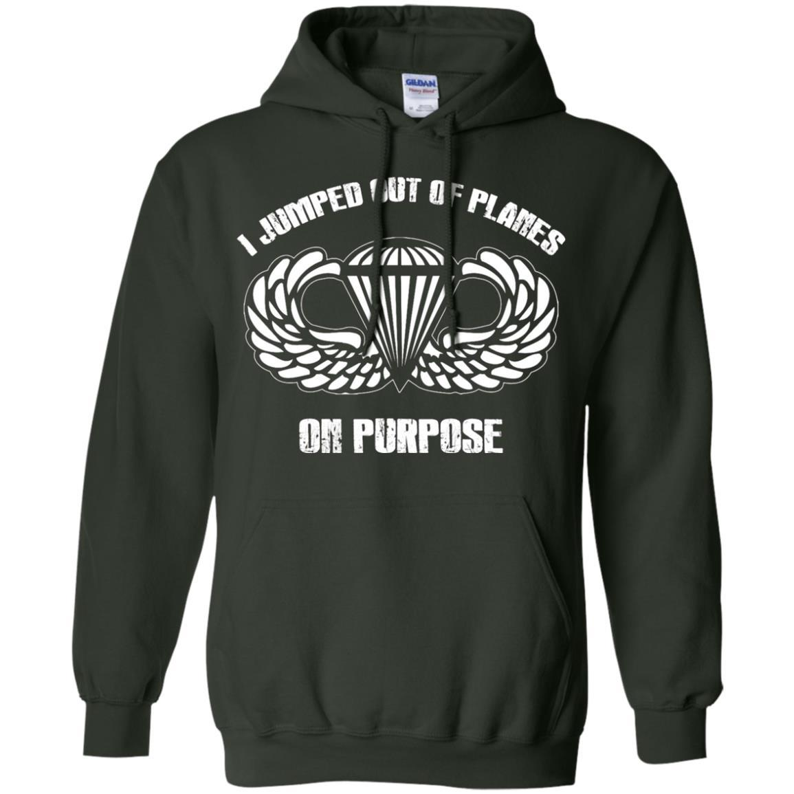 I jumped out of planes on purpose, Airborne - Pullover Hoodie Forest Green / 5XL