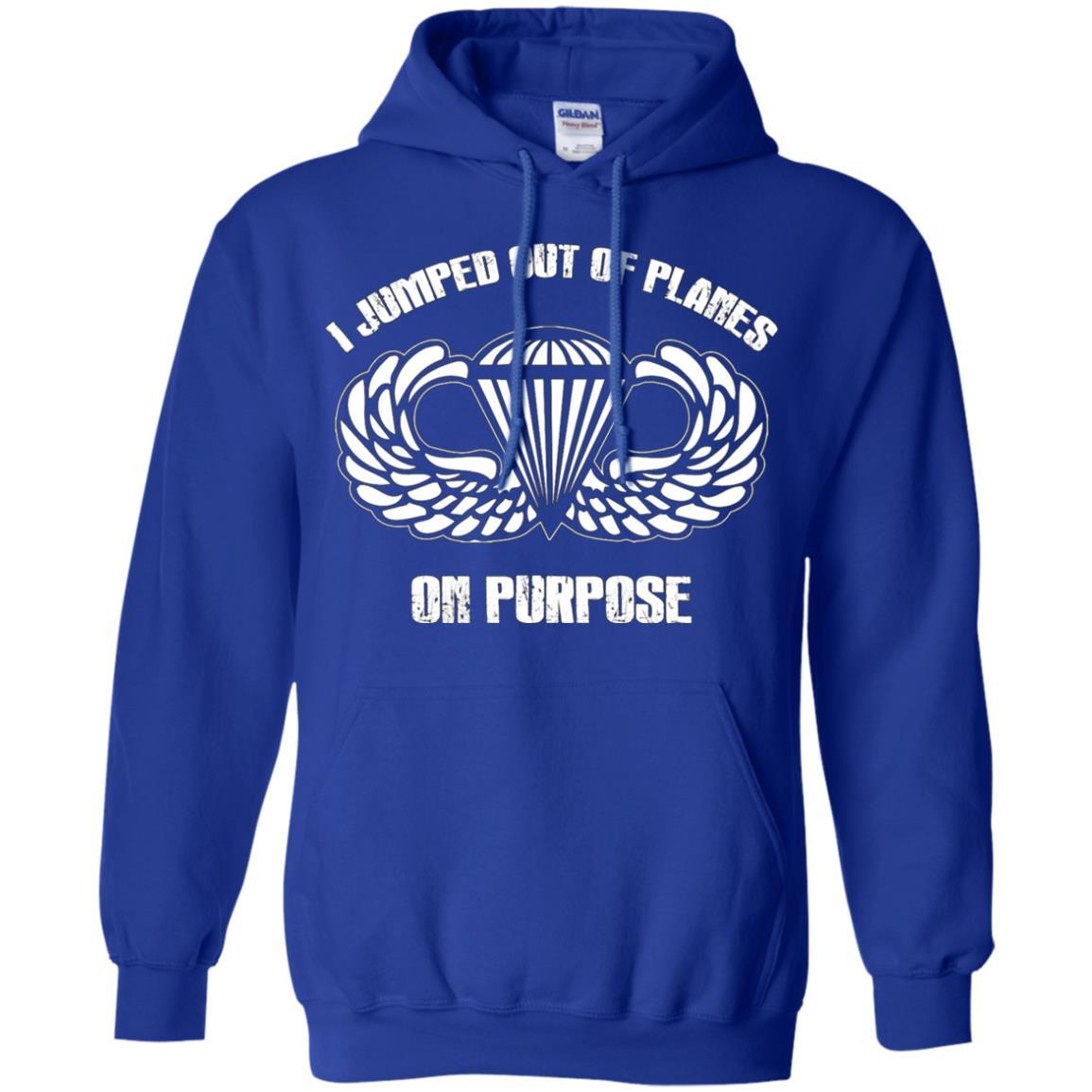 I jumped out of planes on purpose, Airborne - Pullover Hoodie Royal / 5XL