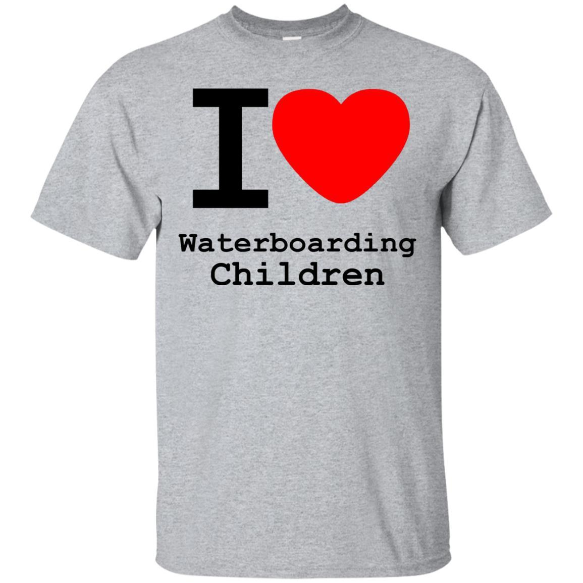 I love Waterboarding Children T-Shirt Sport Grey / 5XL