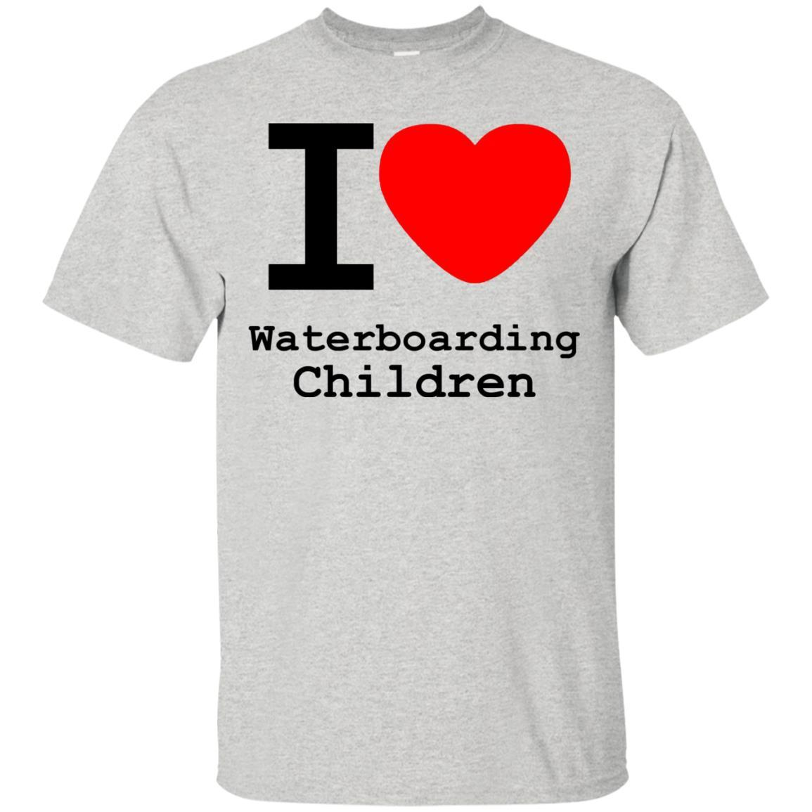 I love Waterboarding Children T-Shirt Ash / 5XL