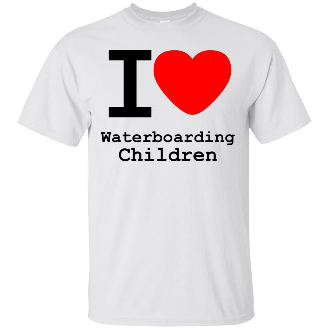I love Waterboarding Children T Shirt White / 5XL