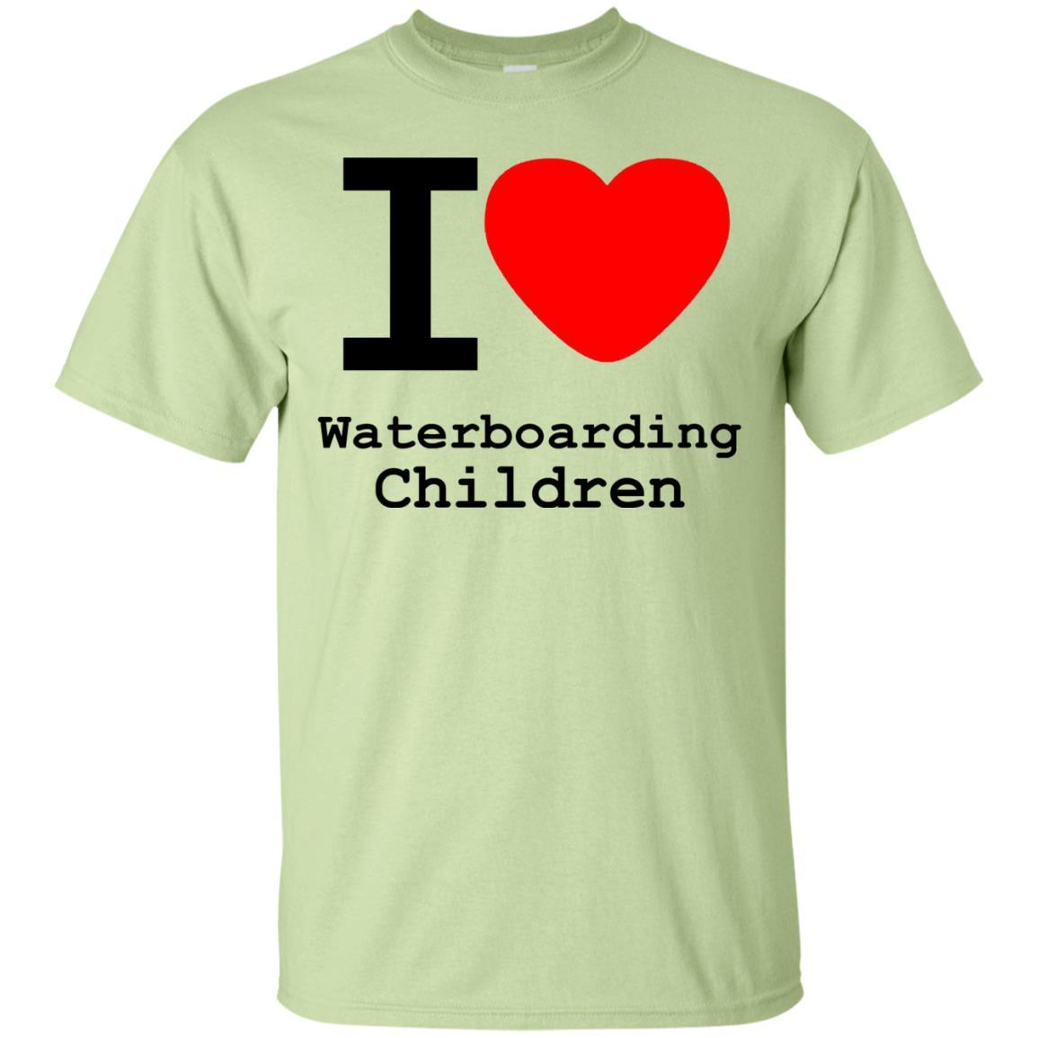 I love Waterboarding Children T-Shirt Pistachio / 5XL