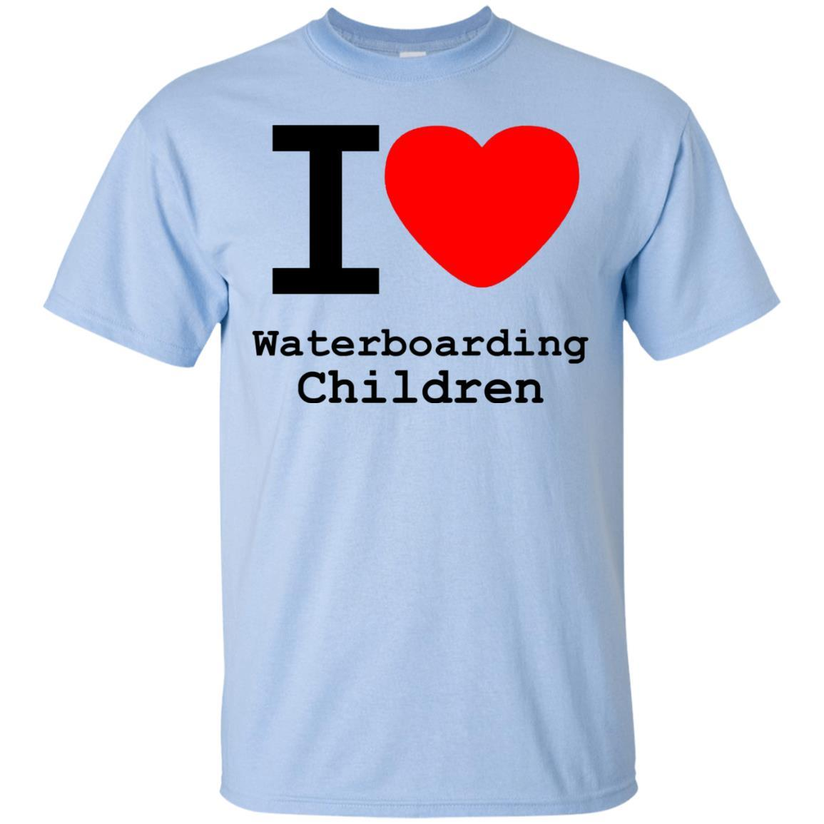 I love Waterboarding Children T-Shirt Light Blue / 5XL
