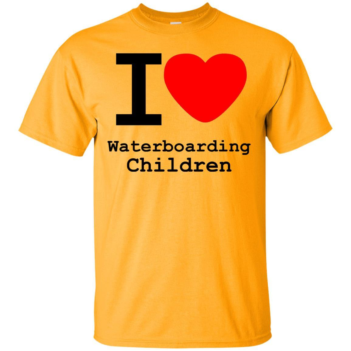 I love Waterboarding Children T-Shirt Gold / 5XL