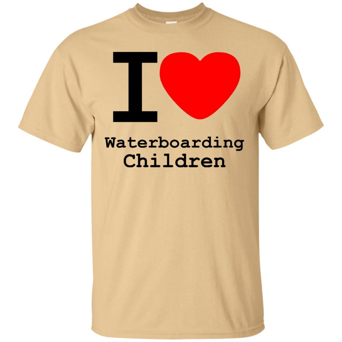 I love Waterboarding Children T-Shirt Vegas Gold / 5XL
