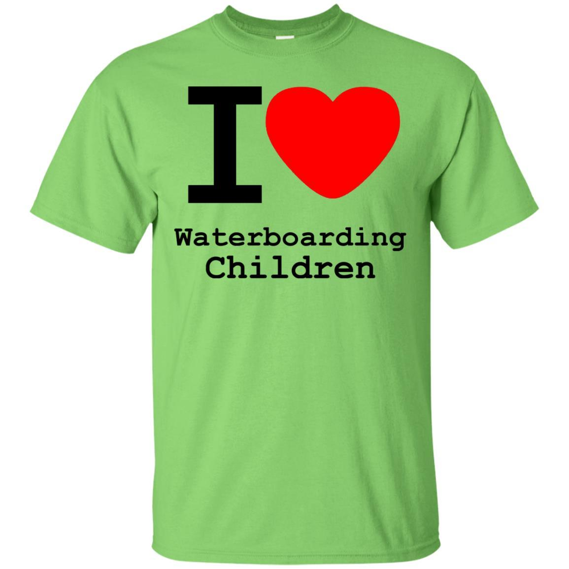 I love Waterboarding Children T-Shirt Lime / 5XL