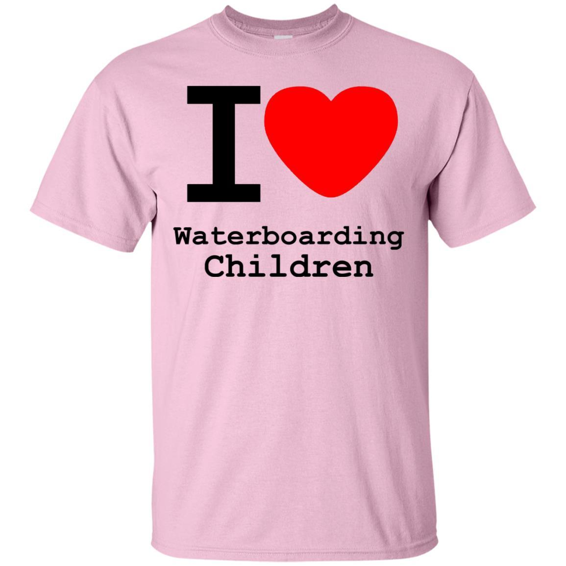 I love Waterboarding Children T-Shirt Light Pink / 5XL