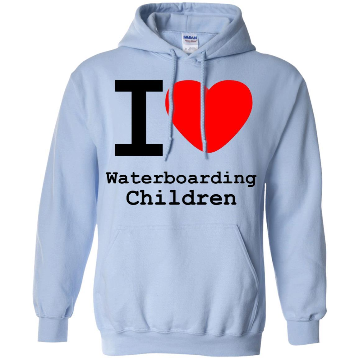 I love Waterboarding Children - Pullover Hoodie Light Blue / 5XL