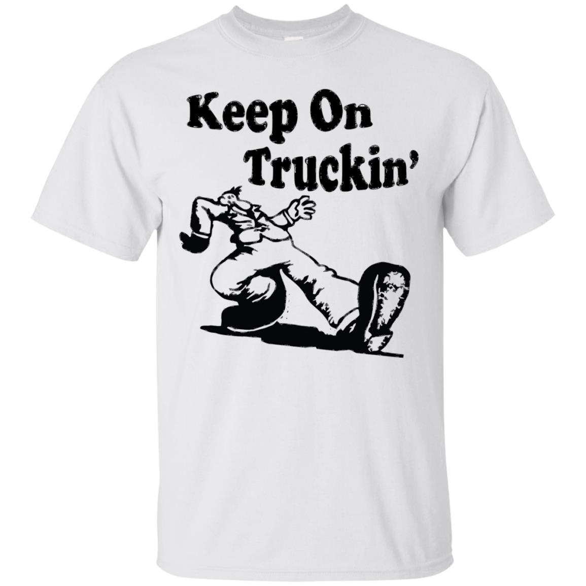 Iconic Keep On Truckin' Tshirt White / 5XL
