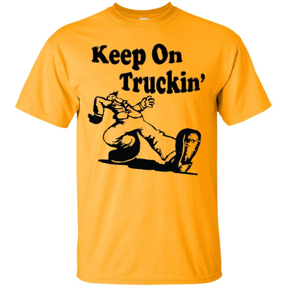Iconic Keep On Truckin' Tshirt Gold / 5XL