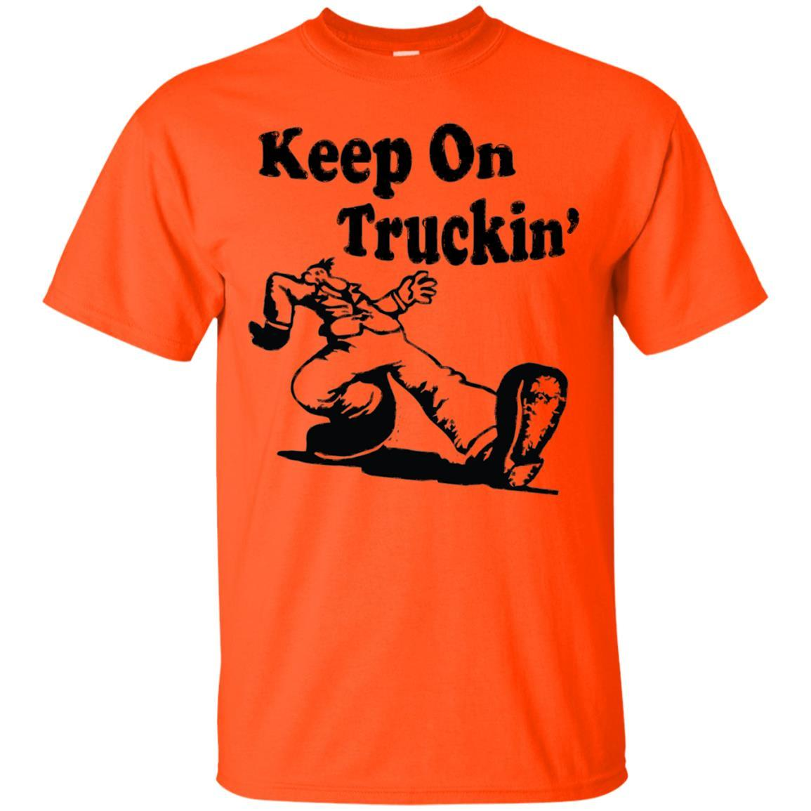 Iconic Keep On Truckin' Tshirt Orange / 5XL