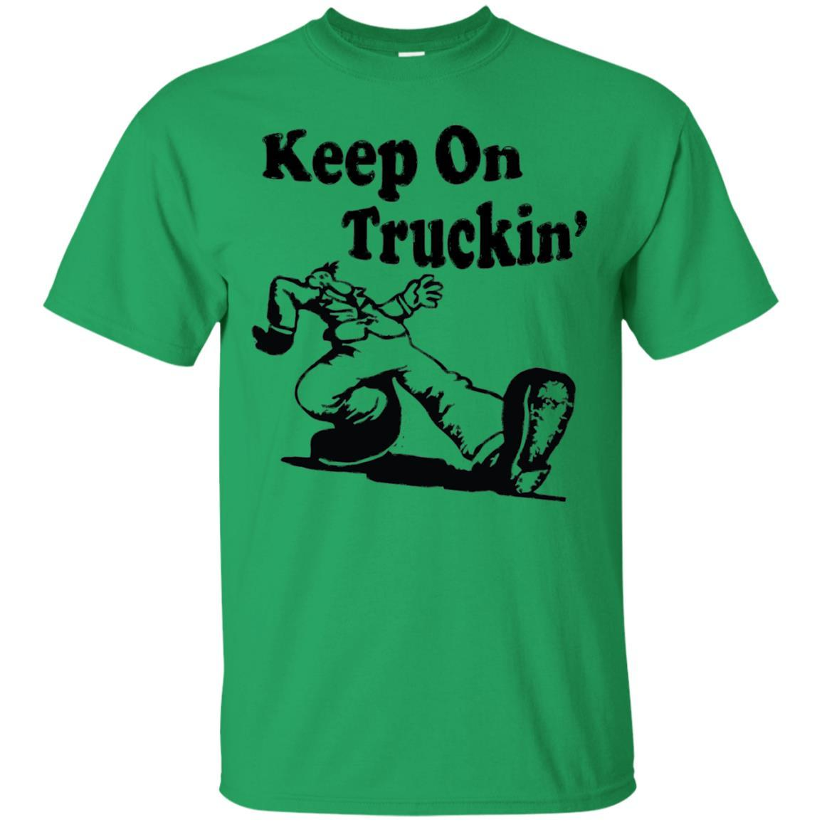 Iconic Keep On Truckin' Tshirt Irish Green / 5XL