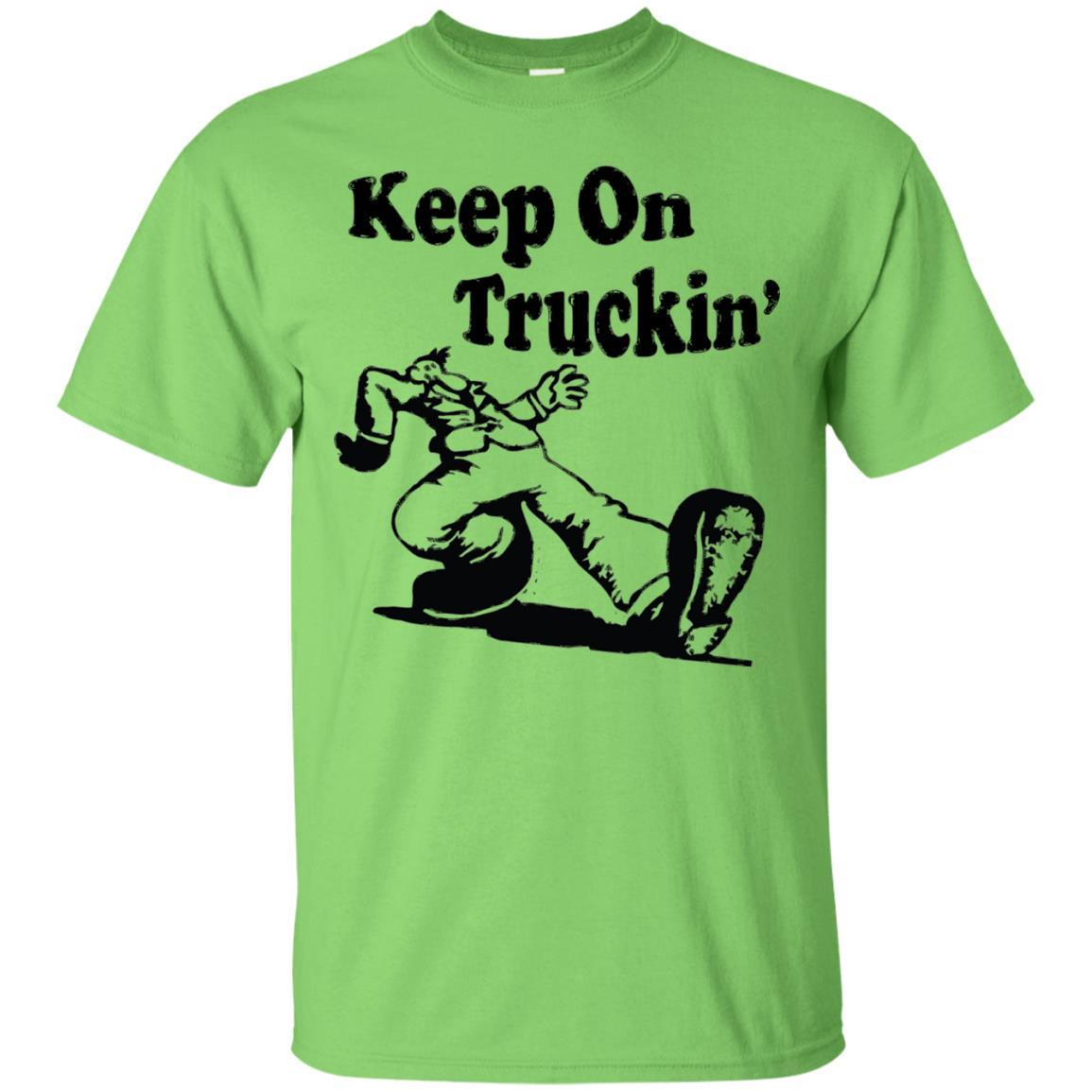Iconic Keep On Truckin' Tshirt Lime / 5XL