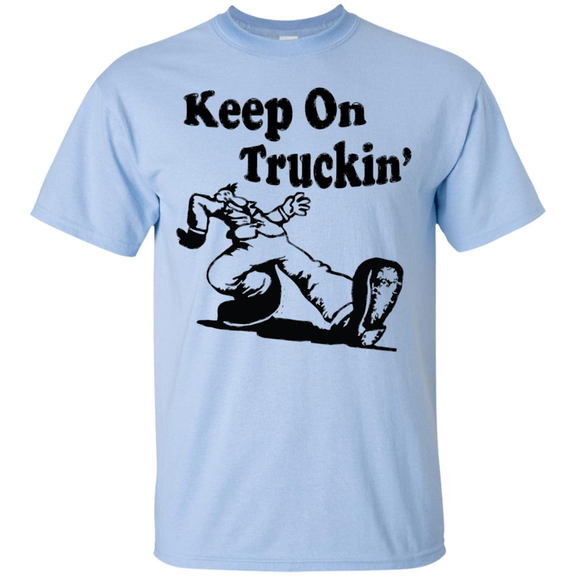 Iconic Keep On Truckin' Tshirt Light Blue / 5XL