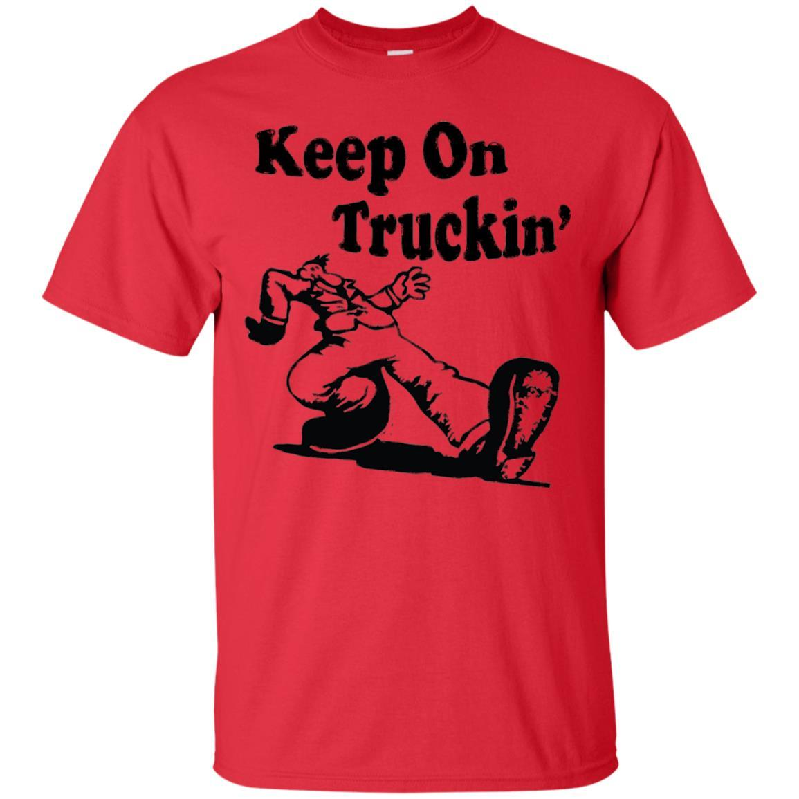 Iconic Keep On Truckin' Tshirt Red / 5XL