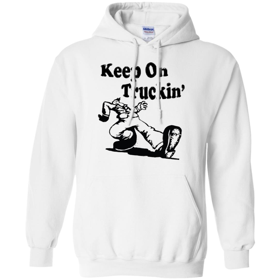 Iconic Keep On Truckin' - Pullover Hoodie White / 5XL