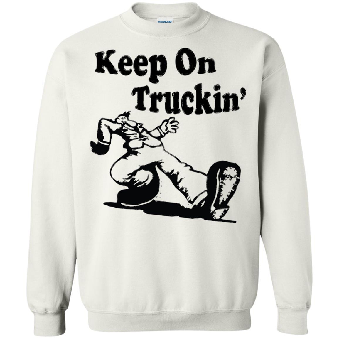 Iconic Keep On Truckin' - Crewneck Pullover Sweatshirt White / 5XL