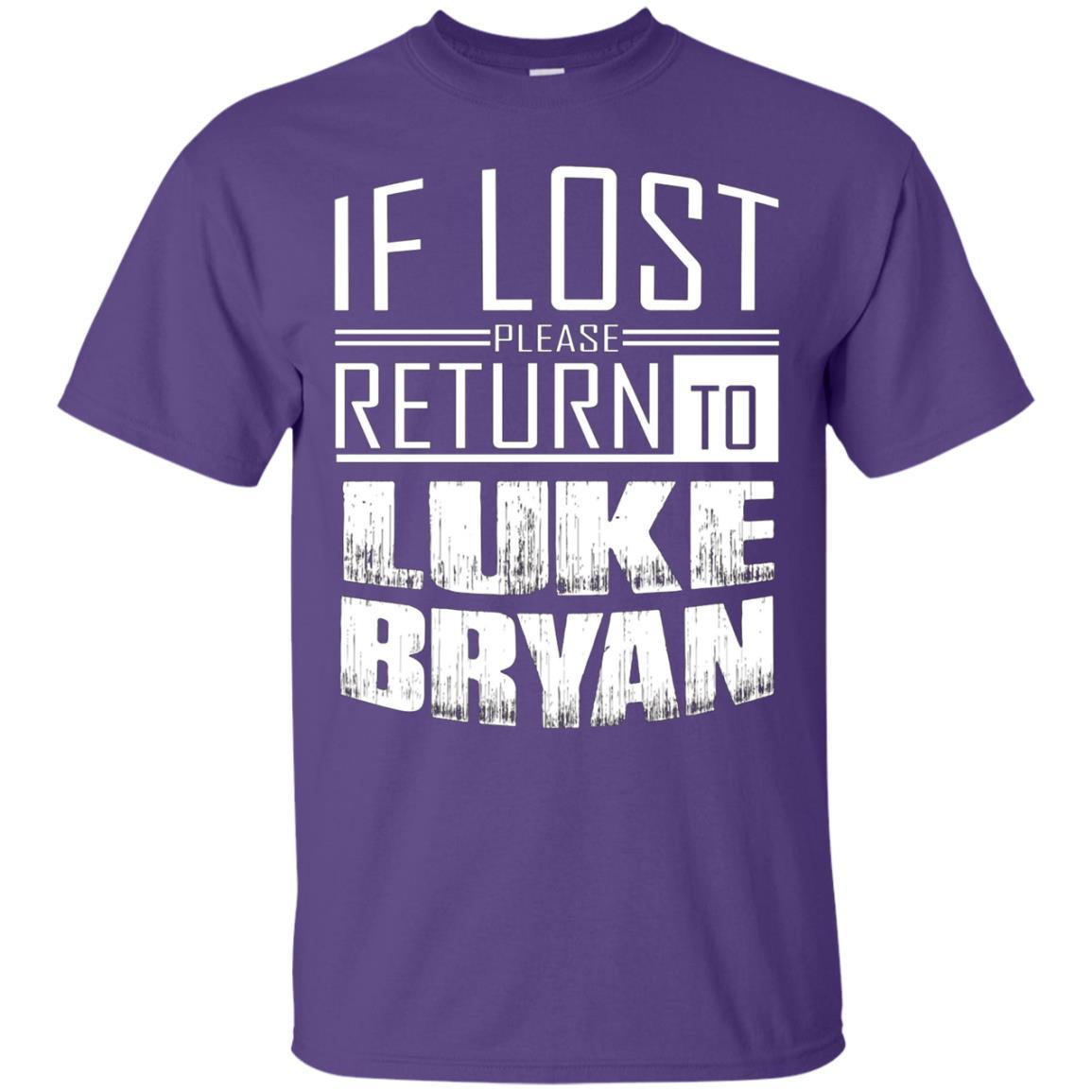 if lost please return to luke name bryan T-Shirt Purple / 5XL