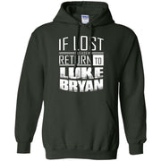 if lost please return to luke name bryan – Pullover Hoodie