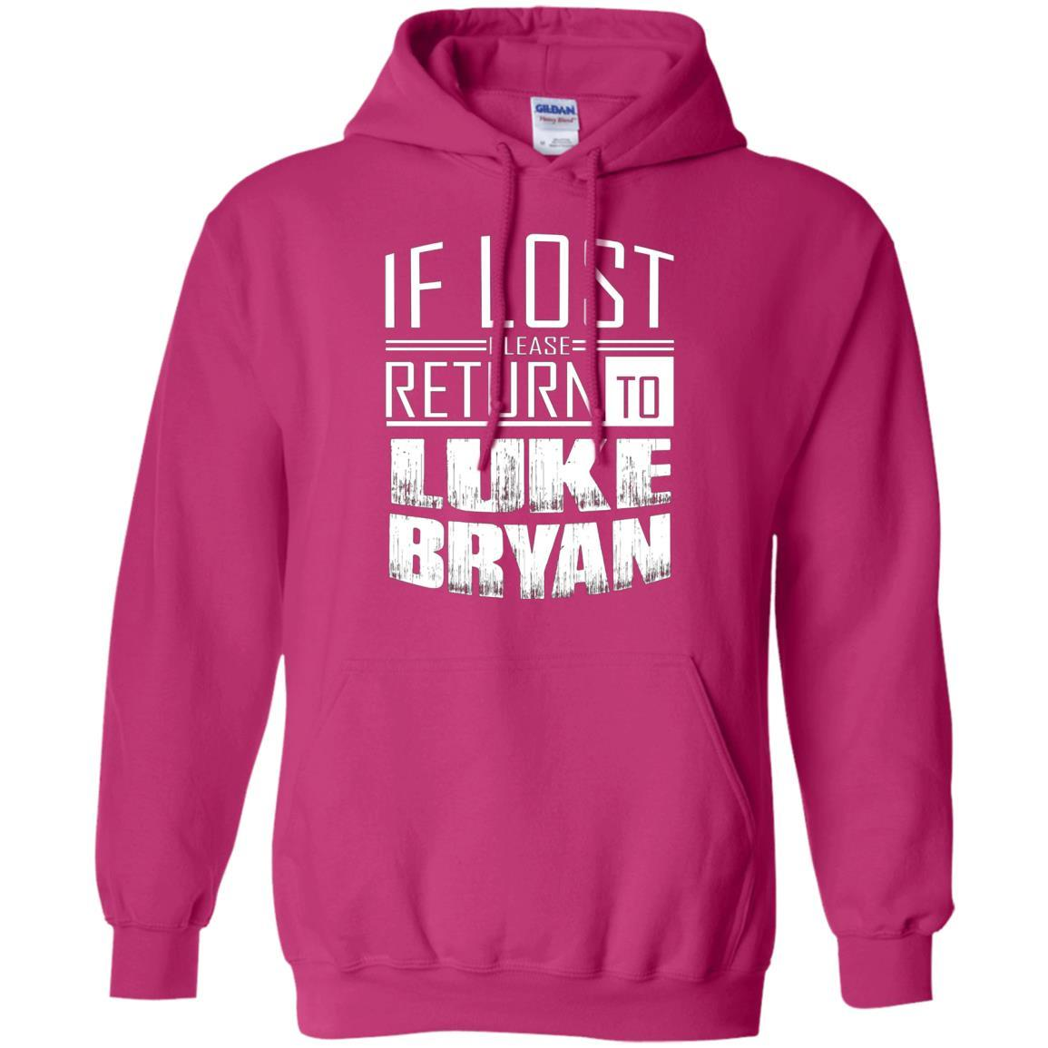 if lost please return to luke name bryan - Pullover Hoodie Heliconia / 5XL