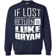 if lost please return to luke name bryan – Crewneck Pullover Sweatshirt