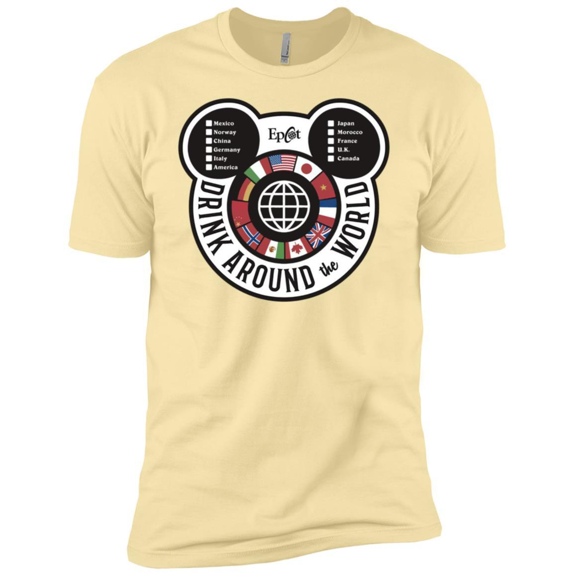 Drink Around the World - EPCOT Checklist - Short Sleeve T-Shirt Banana Cream / 3XL
