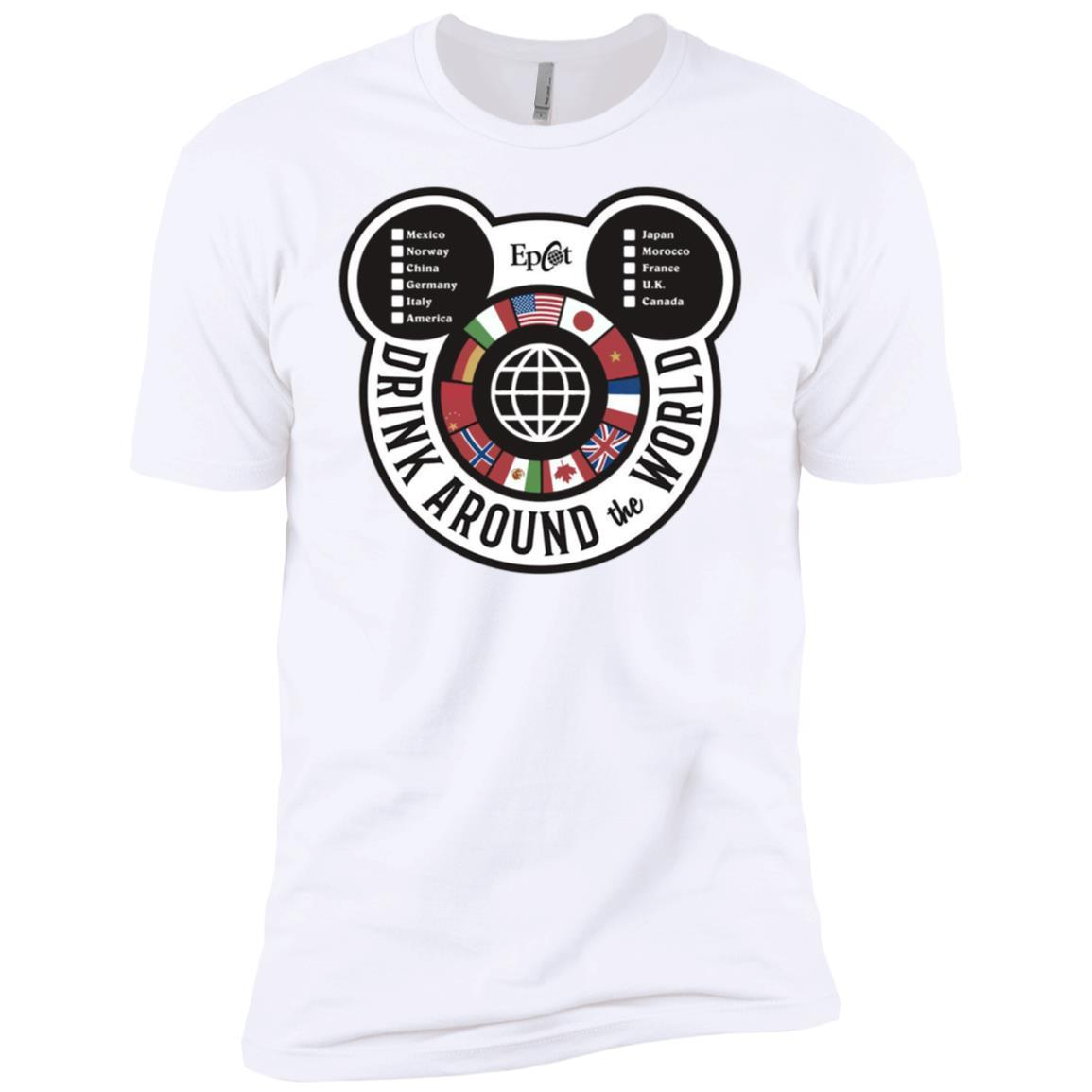 Drink Around the World - EPCOT Checklist - Short Sleeve T-Shirt White / 4XL