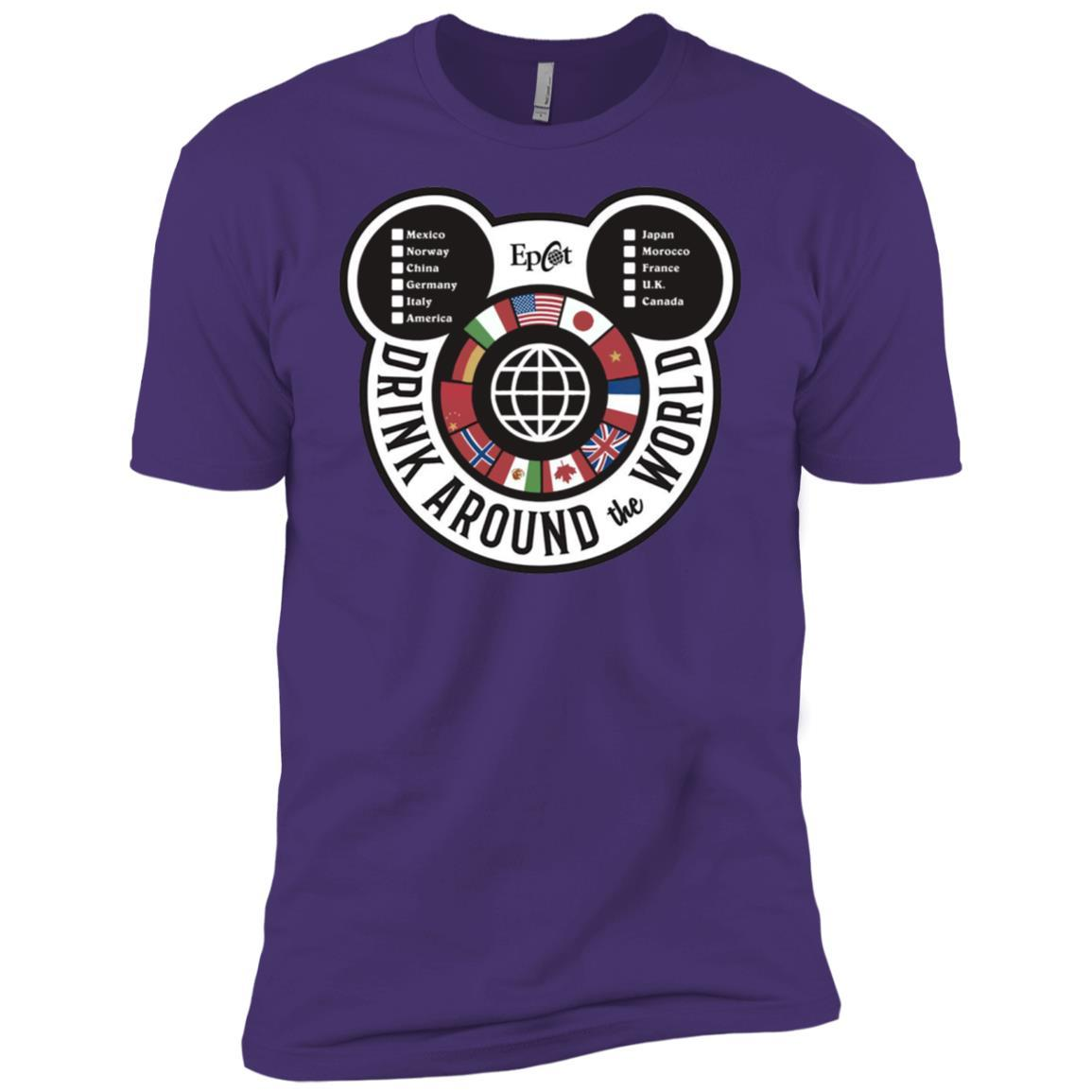 Drink Around the World - EPCOT Checklist - Short Sleeve T-Shirt Purple Rush/ / 3XL