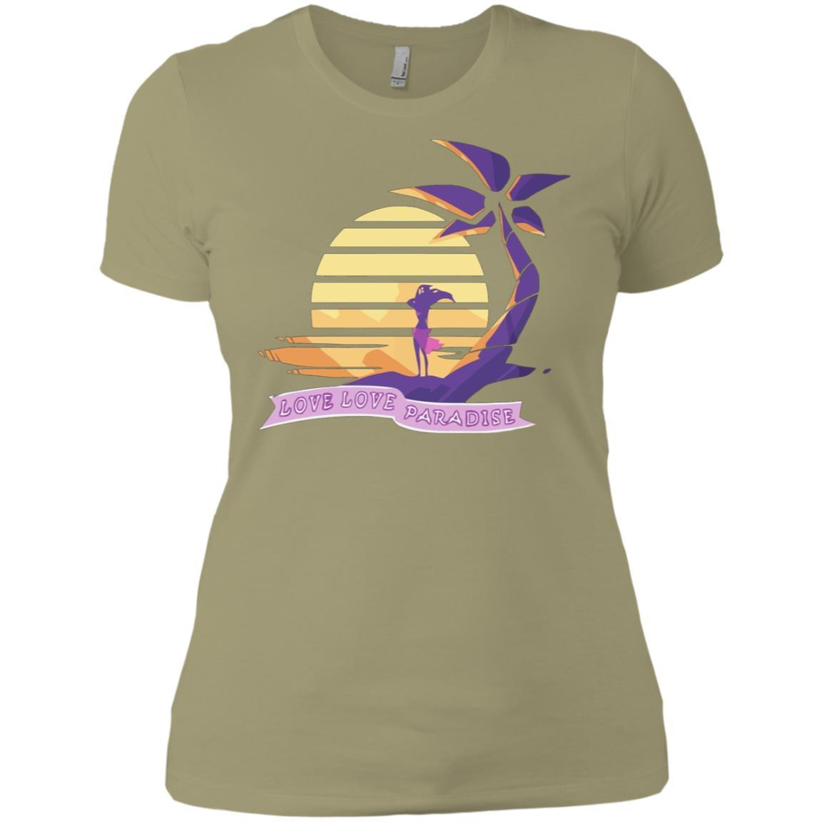 Aphmau Love - Love Paradise - Ladies' Boyfriend T-Shirt Light Olive / 3XL