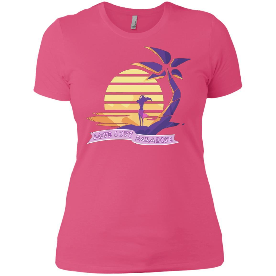 Aphmau Love - Love Paradise - Ladies' Boyfriend T-Shirt Hot Pink / 3XL