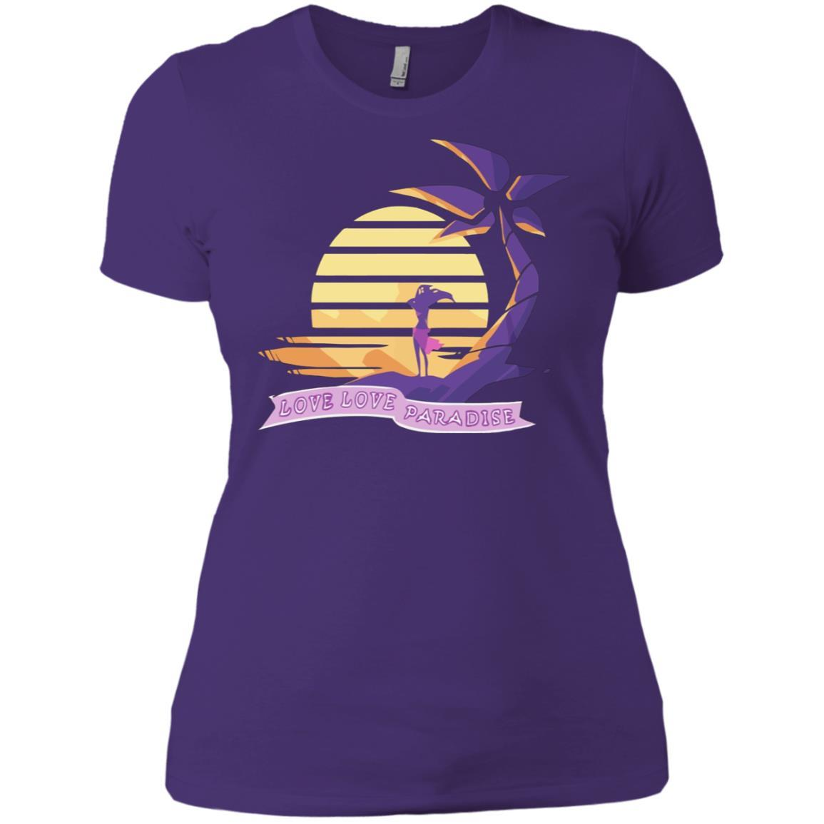 Aphmau Love - Love Paradise - Ladies' Boyfriend T-Shirt Purple Rush/ / 3XL