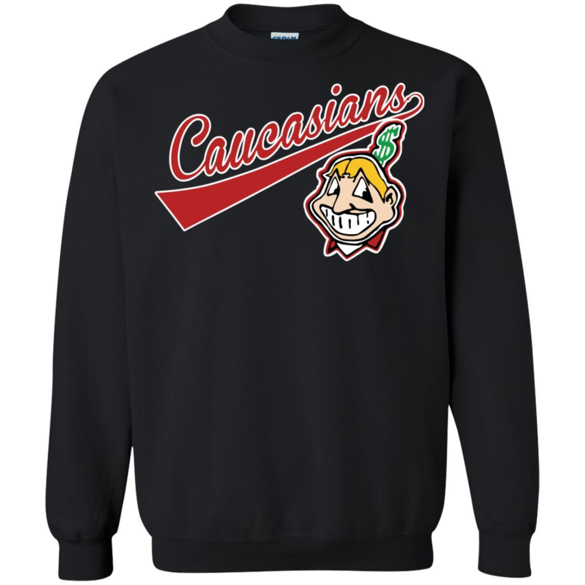 Cleveland Caucasians Native Go Indians - Pullover Sweatshirt Black / 5XL