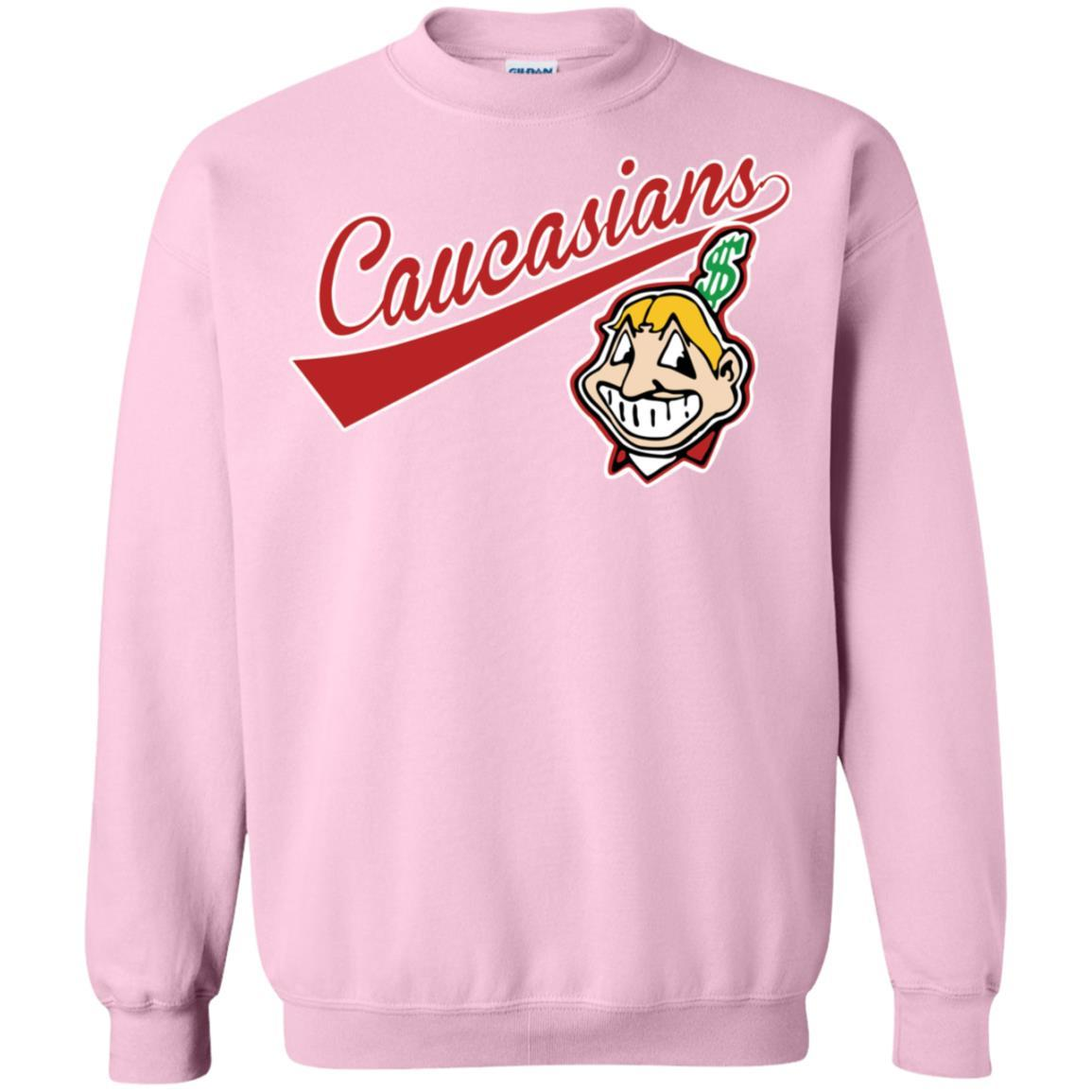 Cleveland Caucasians Native Go Indians - Pullover Sweatshirt Light Pink / 5XL