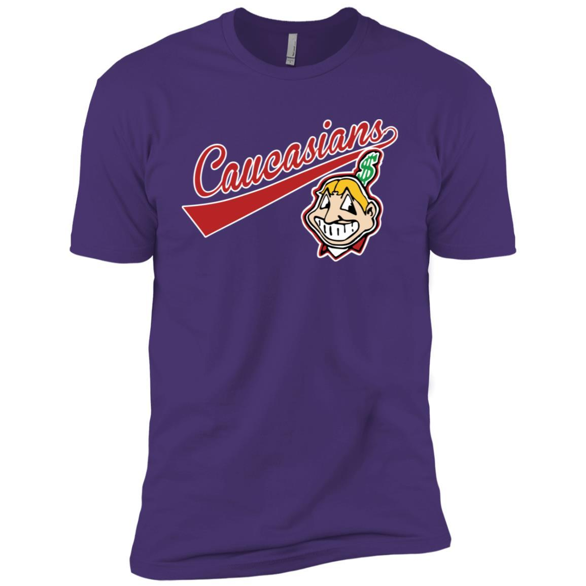 Cleveland Caucasians Native Go Indians - Short Sleeve T-Shirt Purple Rush/ / 3XL