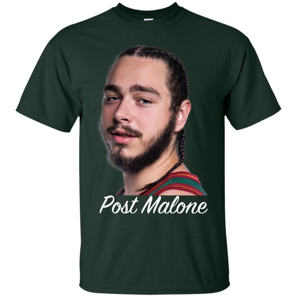 Post Malone White Iverson T-Shirt Forest / 6XL