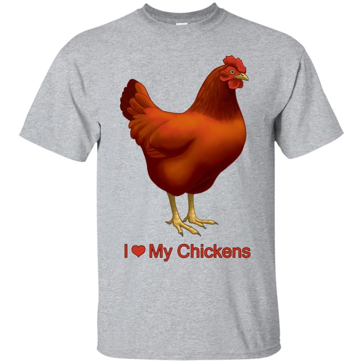 I Heart (Love) My Rhode Island Red Chickens T-shirt