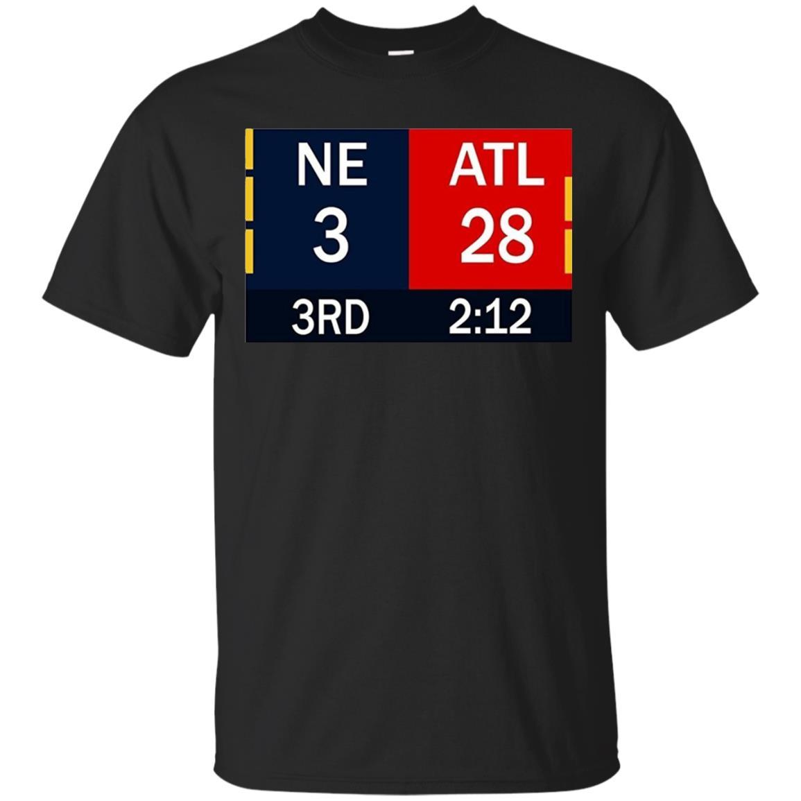 28-3 Big Game Comeback T Shirt - Atlanta 28 New England 3