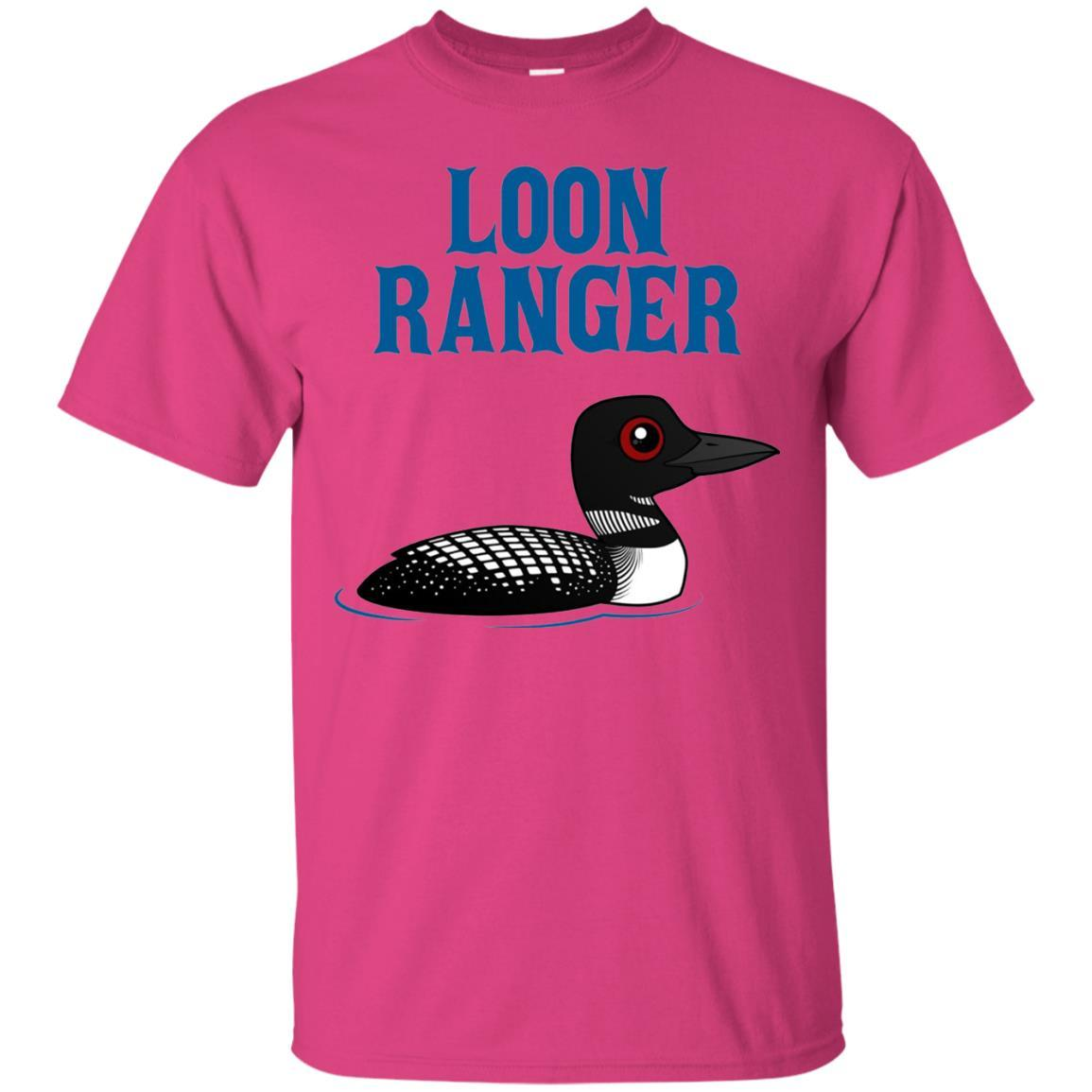 Funny Loon Ranger Cartoon Common Loon Bird T-Shirt