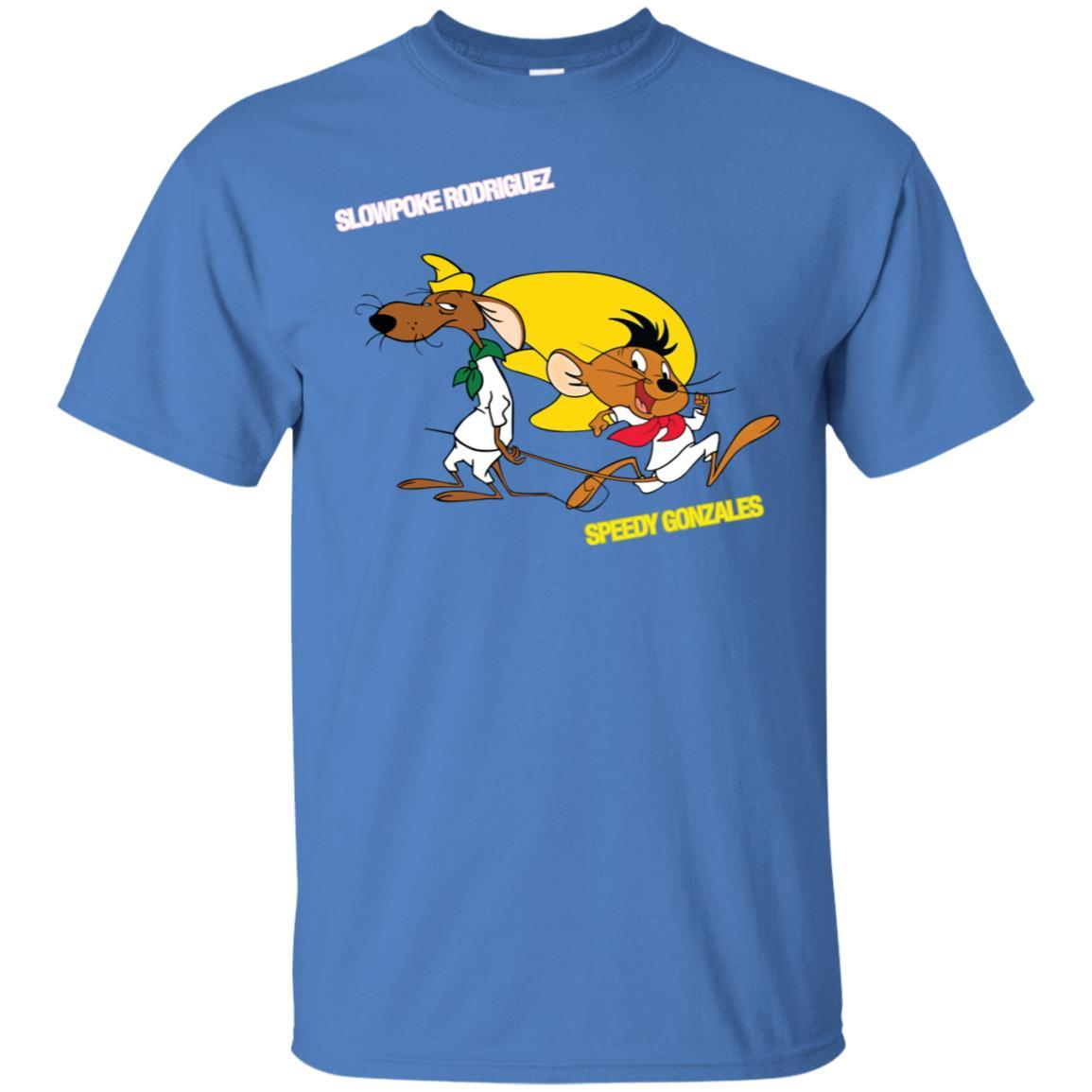 Slowpoke Rodriguez Speedy Gonzalez Funny Vintage Cartoon Tee T-Shirt G200 Gildan Ultra Cotton T-Shirt / Iris / 3XL