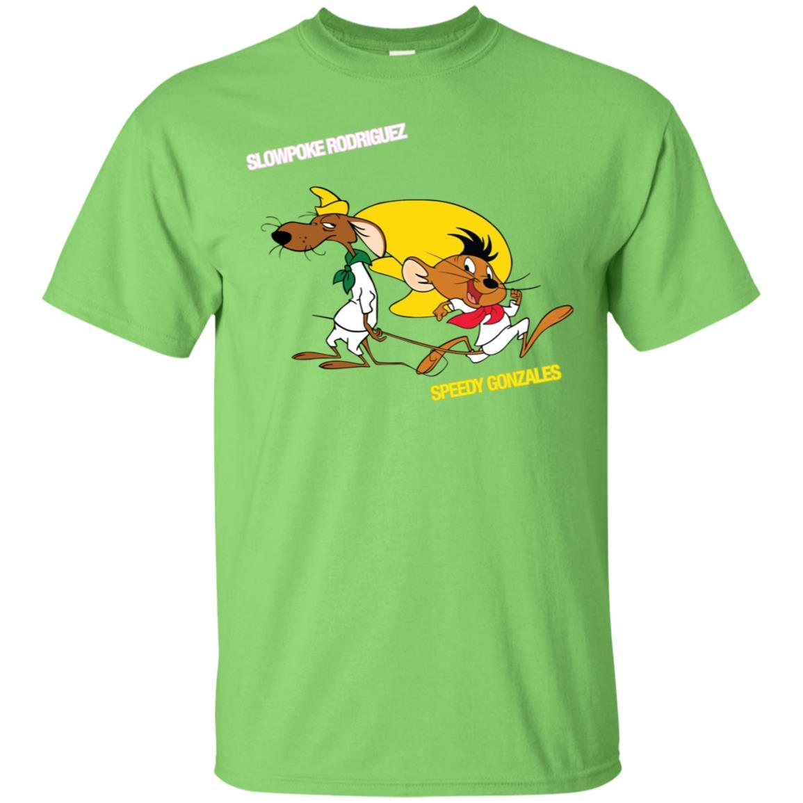 Slowpoke Rodriguez Speedy Gonzalez Funny Vintage Cartoon Tee T-Shirt G200 Gildan Ultra Cotton T-Shirt / Lime / 3XL