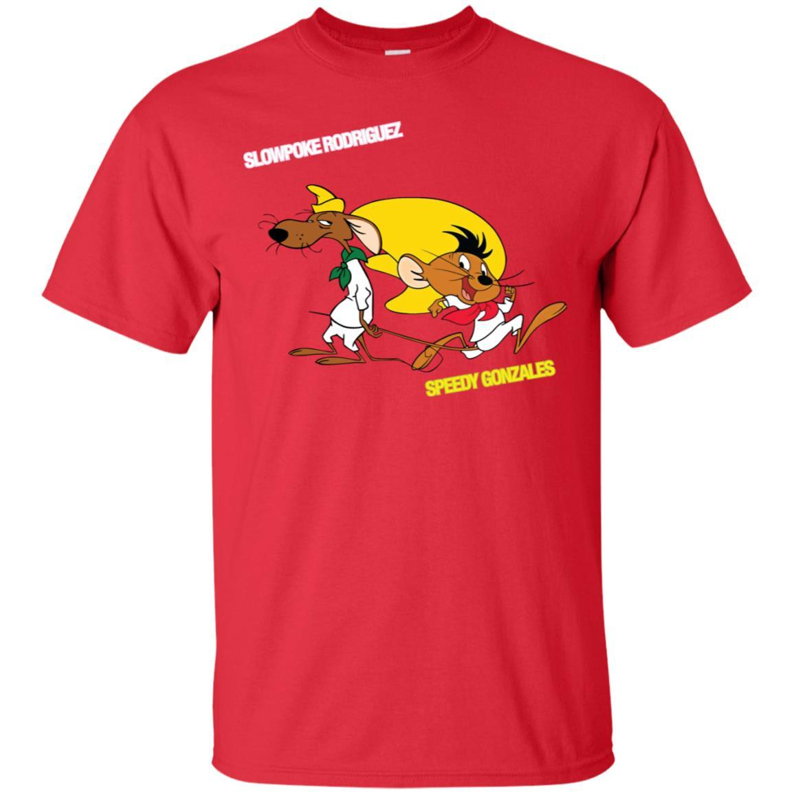 Slowpoke Rodriguez Speedy Gonzalez Funny Vintage Cartoon Tee T-Shirt G200 Gildan Ultra Cotton T-Shirt / Red / 3XL