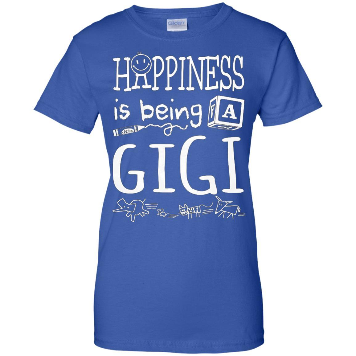 Happiness Is Being A Gigi T-Shirts Gift For Grandma Nana