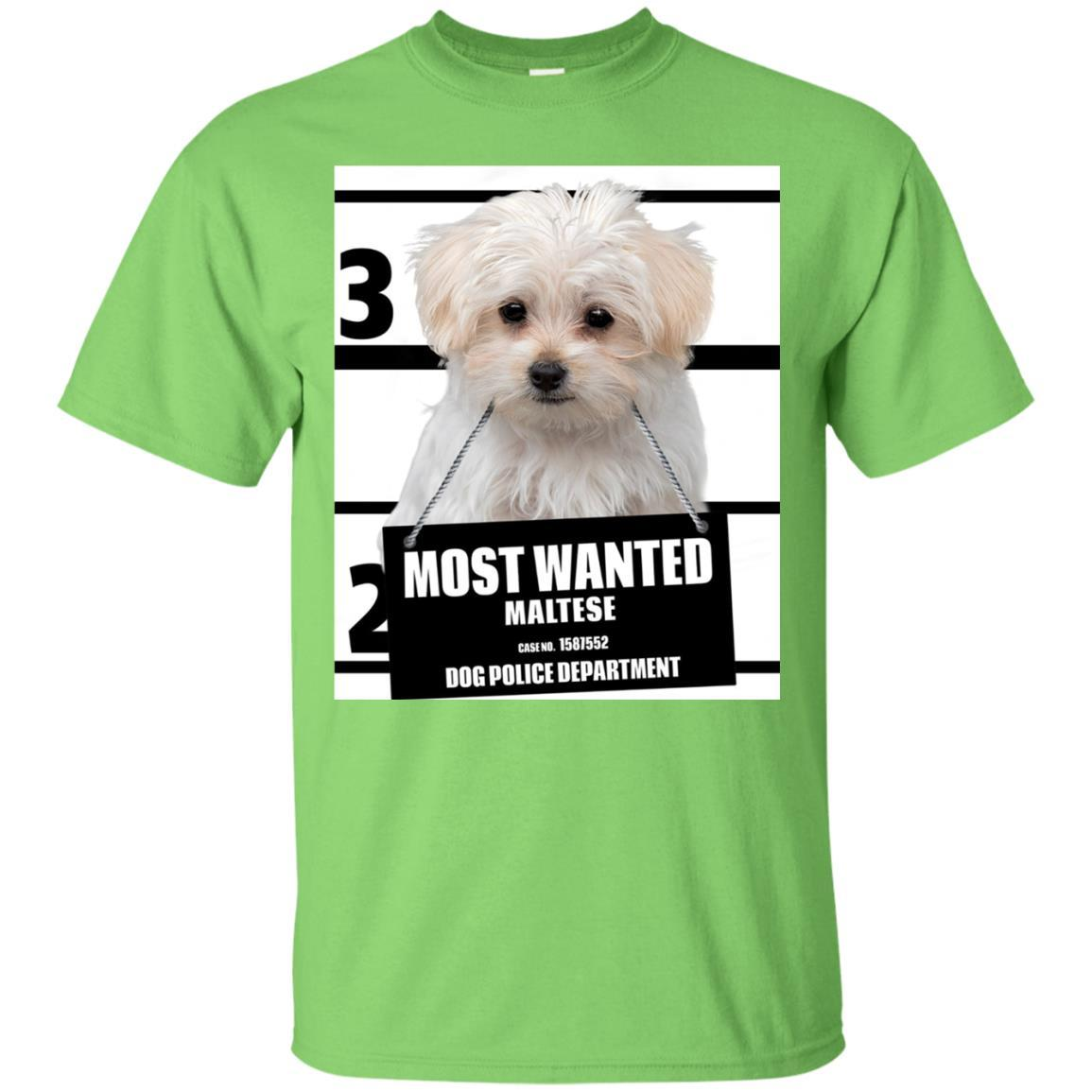 Most Wanted Maltese T-shirt - Dog Tee Shirts - 13