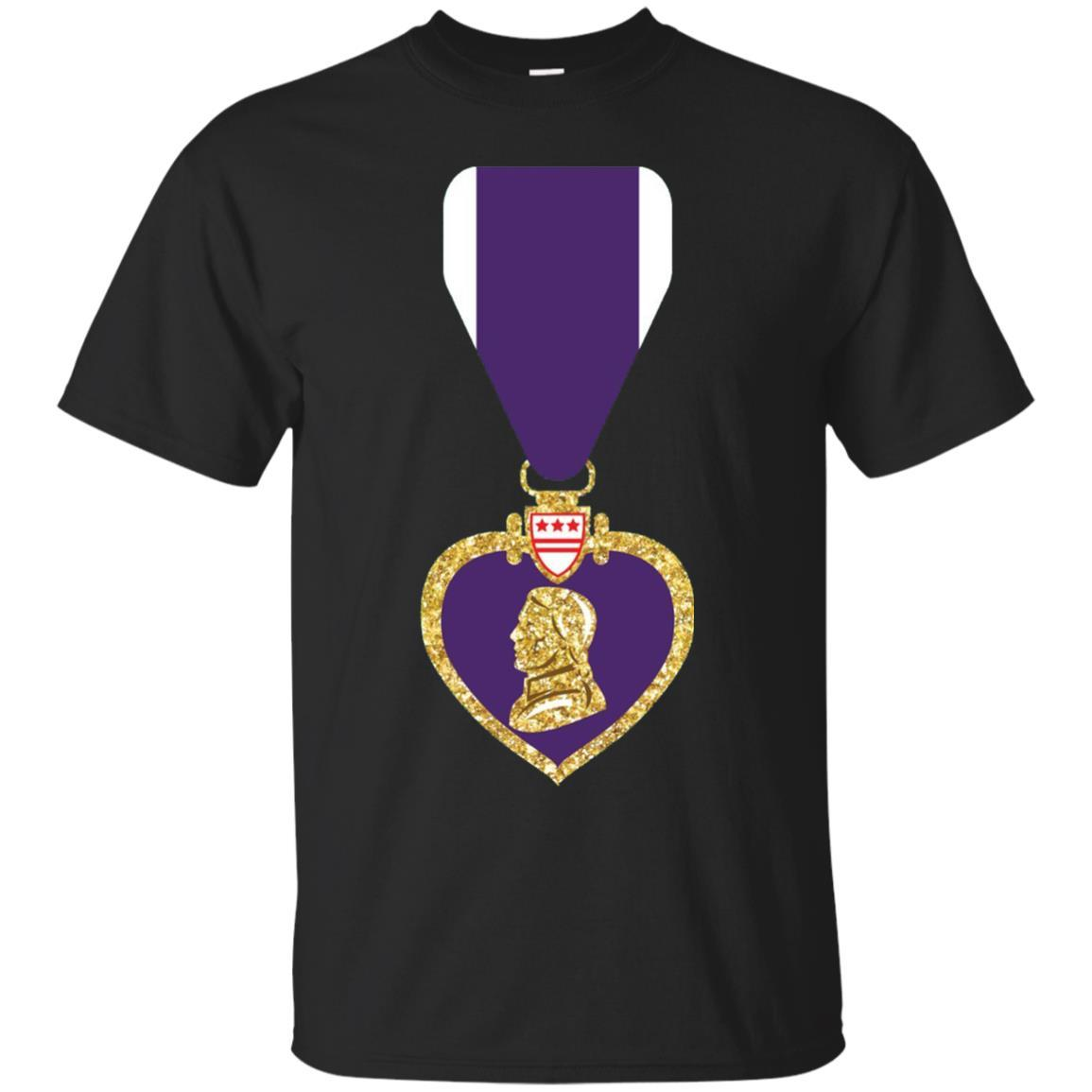 Purple Heart T-Shirt US Military Decoration Veterans Medal