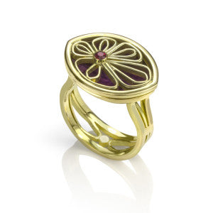 Petal Locket Ring, Contemporary Jewellery