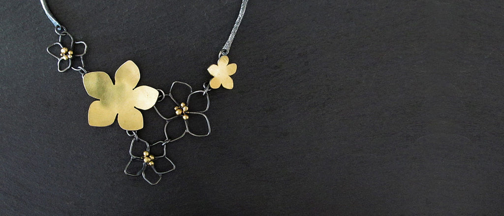 Botanical Jewelry, cherry blossom necklace