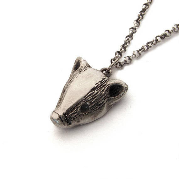 Badger Necklace in Sterling Silver